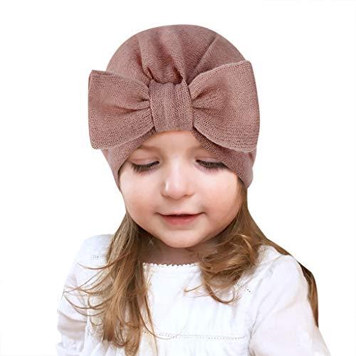 LianMengMVP Babymütze Baby Mädchen Mütze Neugeborenenmütze Unisex Neugeborenes Baby Mädchen Jungen Bow Knot Hemming Beanie Hat Cap (Rosa)