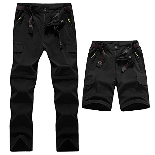 Digralne Pantalones de Exterior Pantalones de Senderismo de Secado rápido Hombres Dos Piezas se...