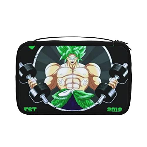 Dragon Ball Z Brolys Legendary Gym Neceser para mujer plegable cosmética bolsa de maquillaje con gancho organizador colgante bolsa con bolsa multi