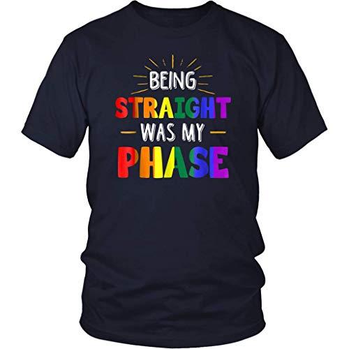 Camiseta de manga corta para hombre y mujer con diseño de texto 'Being Straight was My Phase Tees'