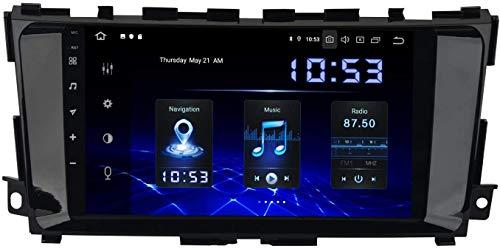 Coche Estéreo Auto Audio Player Doble Din FM Radio Android 10.0 SAT NAV LCD Monitor De 9 Pulgadas Pantalla Táctil GPS Navegación Compatible Para Nissan Teana Altima 2014-2018,4 core 4G+WiFi 2+32GB