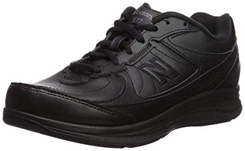 New Balance Women's 577 V1 Lace-Up Walking Shoe, Black/Black, 5 XW US