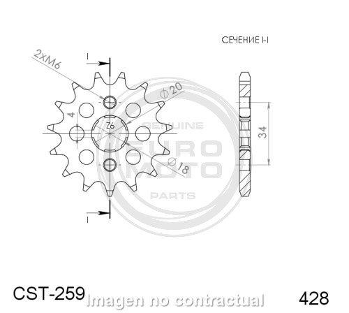 supersprox - Piñón Daelim 428 x 15 (CST259X15)