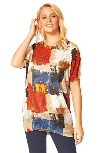 Roman Originals Camiseta de gran tamaño con estampado abstracto para mujer - - 44 ES