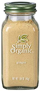 Simply Organic Ground Ginger Root, Certified Organic | 1.64 oz | Pack of 6 | Zingiber officinale Roscoe