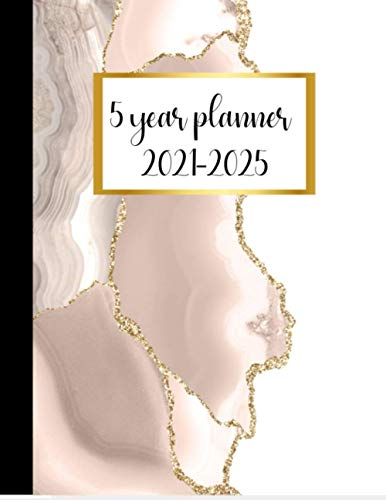 5 year planner 2021-2025: with 2021 calendar, birthday log, password log, contact information page