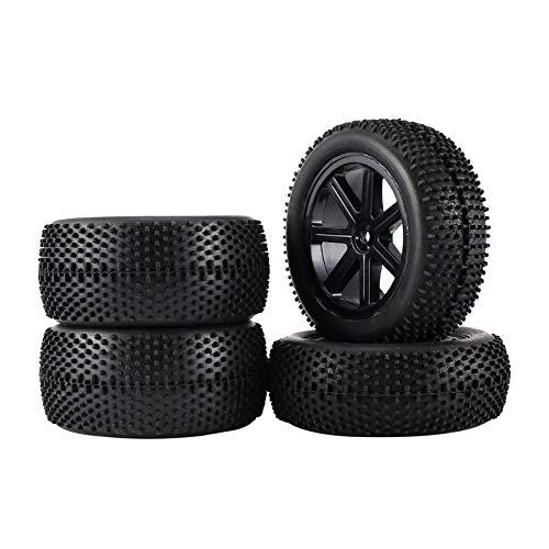 Appearanice 2 Pares 85 mm 1/10 Todoterreno RC Car Buggy 5 radios Neumáticos Ruedas sólidas Neumáticos con Pasador