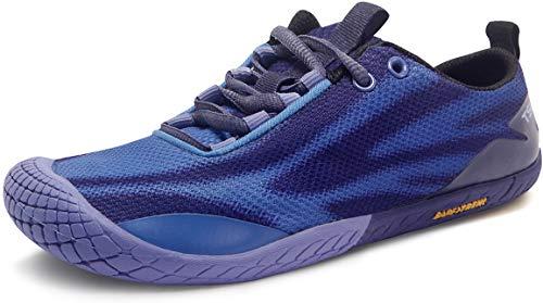TSLA Women's Trail Running Shoes, Lightweight Athletic Zero Drop Barefoot Shoes, Non Slip Outdoor Walking Minimalist Shoes, Barefoot(bk62) - Dusty Blue, 9