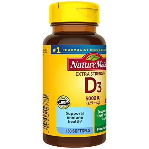 Nature Made Vitamin D3 5000 IU-180 Count