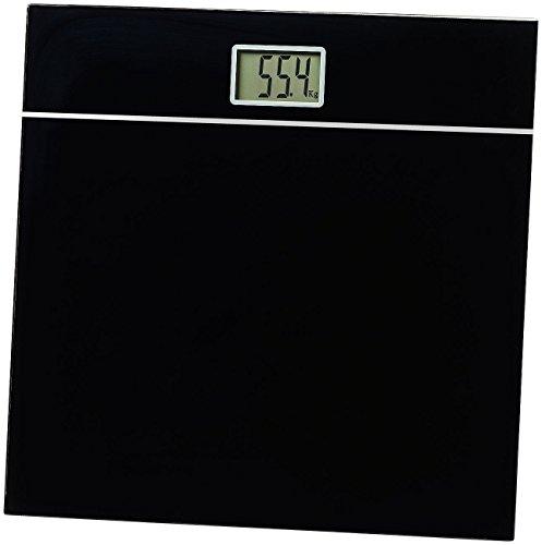 newgen medicals Körperwaage: Elegante Design-Personenwaage, bruchsicheres Glas, schwarz, bis 150 kg (Gewichtswaage)
