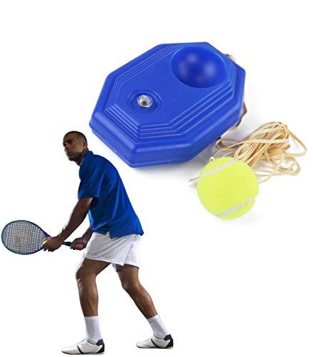 YAJIAN Sport-Tec 01 - Soporte para pelotas de tenis con una cuerda para entrenar solo, incluye 1 pelotas de tenis, herramienta de entrenamiento para principiantes, niños y adultos