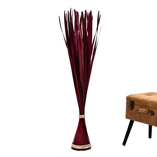 Leewadee Ramo de Flores secas, 120 cm, Hoja de Palmera, marrón