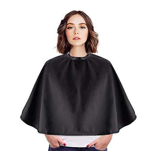 Diealles Shine Bata para Barberías Capa peluquerías Negro, Capa De Peluquería Barbería Unisex Negro Para Salón De Belleza Corte Tinte, 77 * 80cm