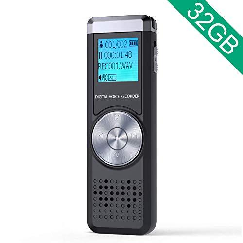 32GB Grabadora de Voz Digital, ADOKEY Grabadora Audio con Reproductor...