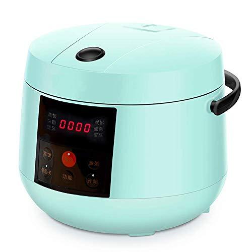 NLRHH Multifunktionale tragbare intelligente elektrische Reiskocher Mini Dampfgarer Joghurt-Maschine Kuchen-Hersteller 24H Termin 2.0L, Rosa Peng (Color : Green)