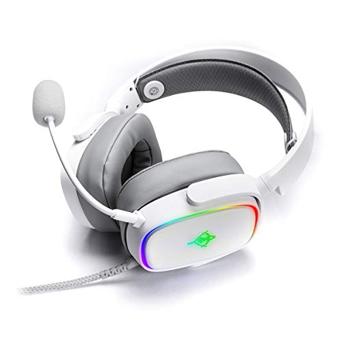 YEYIAN Auriculares Gaming Proud Series 3500, luz LED, 1.8 Metros, con adaptadores...