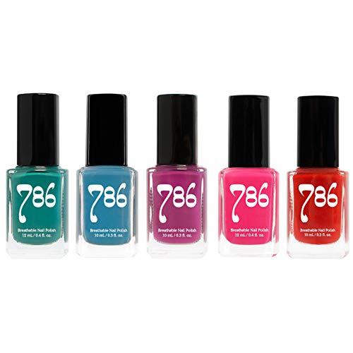 786 Cosmetics Nail Polish Set - Vegan, Cruelty-Free, Halal Nail Polish, 5 Full Sized Nail Polishes (Bold Set)