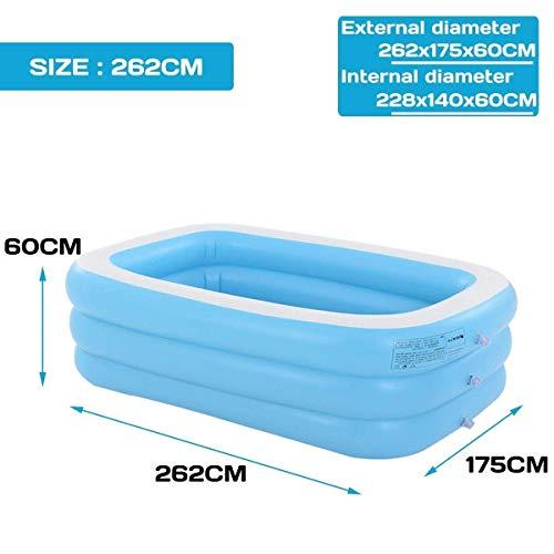 1.1m- 3.05m adultos de gran tamaño piscina inflable bañar a los niños Bebé de la tina de uso doméstico Piscina for niños inflable cuadrado de la piscina (color: 1,96 millones) FDWFN ( Color : 2.62m )