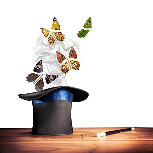 Lembeauty - 5 piezas de mariposas voladoras de hada mágica con banda de goma, juguete de mariposa volando en el libro, gran regalo sorpresa (color al azar)