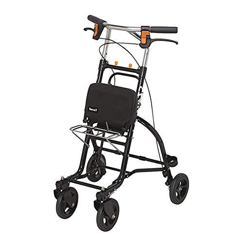 TJP Faltbare Mehrzweck-Einkaufswagen-tragbare leichte Rollstuhl-Roller-Taschen-Bremse Home Warenkorb mit Sitzplatz kann 100 kg tragen