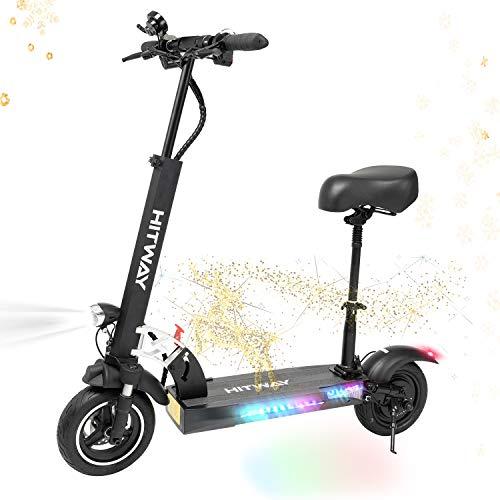 HITWAY Monopattino Elettrico Unisex Adulto, Scooter Elettrico Fuoristrada con Sedile, Scooter Monopattino Elettrico Pieghevole, 50 Km di Autonomia, velocità Fino a 45 Km/h