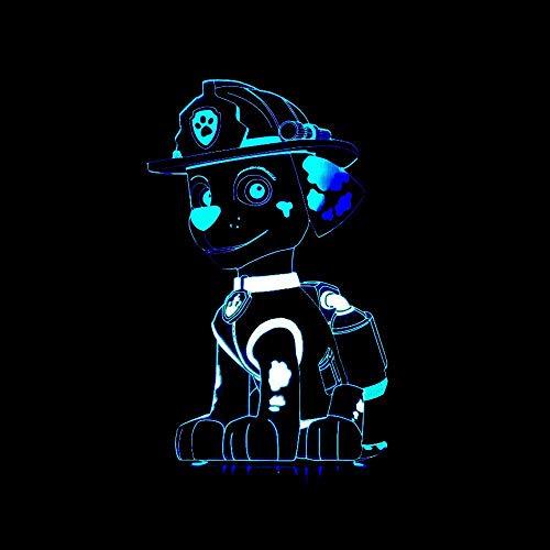 Haba Puppy 3D Kleurrijk Nachtlampje Kinderdaggeschenk 3D Nachtlampje Touch Creatieve 3D Tafellamp