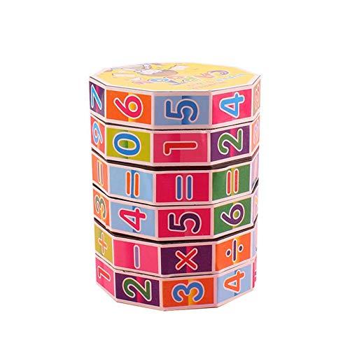 3 cubos digitales de plástico cilíndricos para niños, cubos cilíndricos, juguetes educativos, herramientas de enseñanza de reconocimiento de números, regalos para bebés