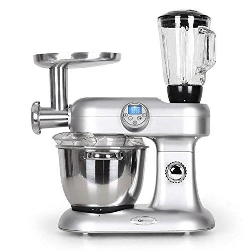 Clatronic KM3476 Cook & Mix robot da cucina tritacarne, mixer, multiuso 2000 Watt, 13 funzioni - Cottura e Riscaldamento