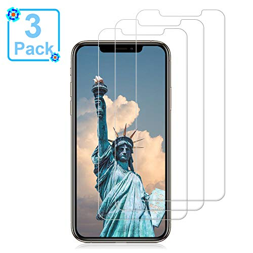 [3 Pack] iPhone Xs/X Glass Screen Protectors Loopilops iPhone Xs/X Tempered Glass Screen Protector [3D Touch] [9H Hardness] [No Bubble] Compatible with iPhone Xs/X[5.8 Inch]