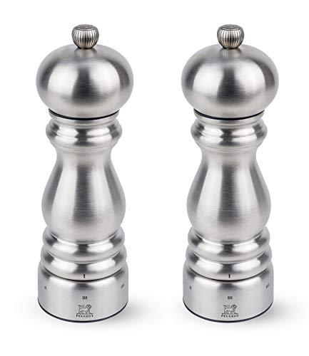 Peugeot Paris Chef U'Select Duo Salz- und Pfeffermühlen-Set aus Edelstahl, 17,8 cm