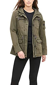 Levi s Women s Cotton Four Pocket Hooded Field Jacket Army Green XL