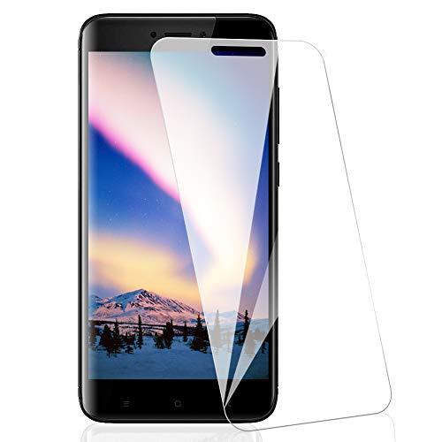 [3 Pack] Amonke Protector Pantalla para Xiaomi Redmi 4X Cristal Vidrio Templado, Plana pero Incompleta Cobertura, 9H Dureza 2.5D curvo Borde Screen Protector para Xiaomi Redmi 4X