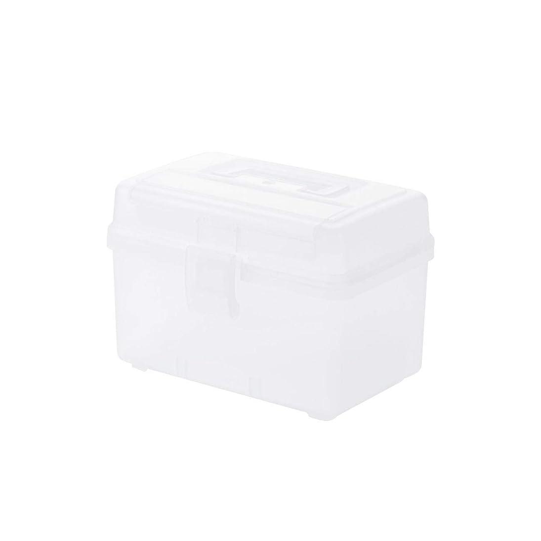 条約放射性再開薬箱 救急箱 多機能 ポータブル 収納ボックス 救急 小物入れ 道具箱 応急処置 収納 ボックス ケース 化粧箱 メイクケース 化粧品 薬品 収納ケース 小物入れ ハンドル付き,クリア