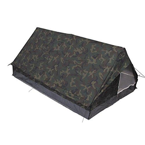 MFH 2 Personen Zelt Minipack Campingzelt BW Zelt Outdoor 213x137x97cm verschiedene Farben (Woodland)