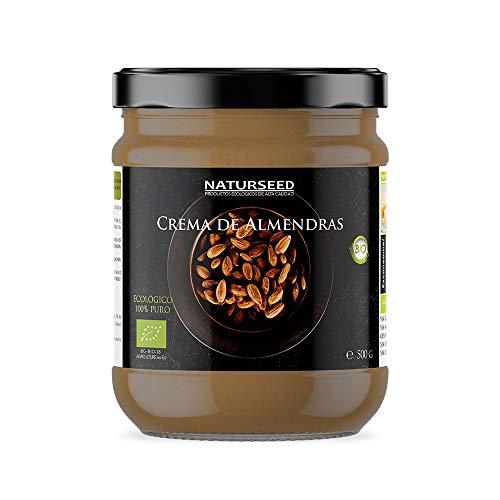 Crema di Mandorle Integrale Naturale al 100% - Toast - Senza zucchero - Senza glutine - Senza lattosio - Biologico biologico - Buona digestione (500GR)