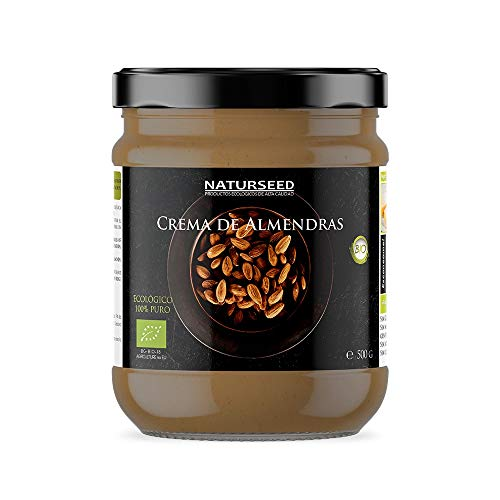 Crema de Almendras Integral 100% Natural Bio - Tostadas - Sin Azucar - Sin Gluten - Sin Lactosa - Ecologica Organica - Buena digestión (500GR)
