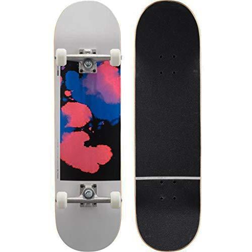 Skateboarden Longboard Enthusiasten Erwachsene Jungen Und Mädchen Anfänger Und Kinder Professionelle Boards Professionelle Allrad-Scooter (Color : Black, Size : 81 * 20.9cm)