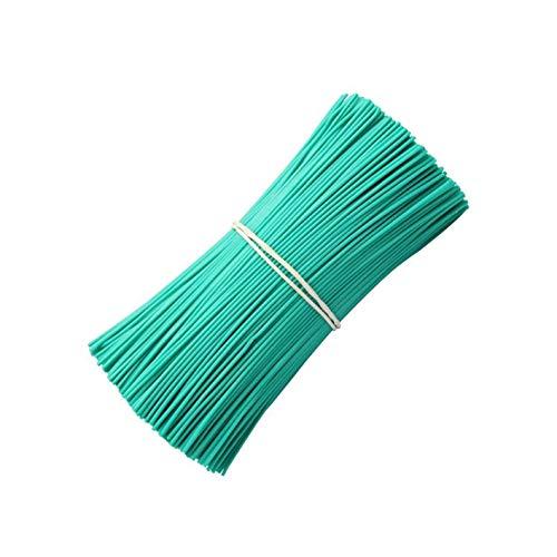 Green Twist Ties for Plant 1000 Piece 4 Inch Flat Plastic Covered Metallic Twist Ties Green Garden Ties Plant Ties Reusable Cables Organization Twist Tie for Bags Reusable Twist Cord for Bags