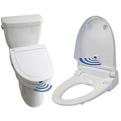 iTouchless White Elongated Touch Free Sensor Controlled Automatic Toilet Seat