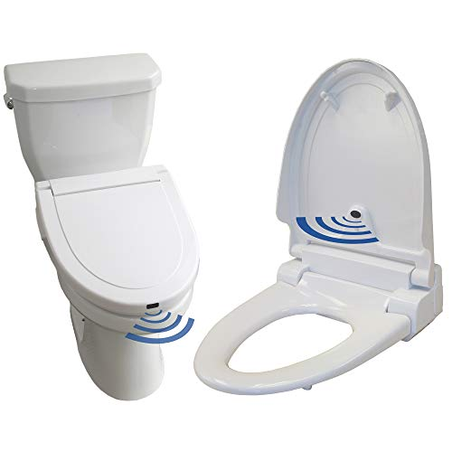 iTouchless Touch-Free Sensor Controlled Automatic Toilet Seat - Elongated Model,...
