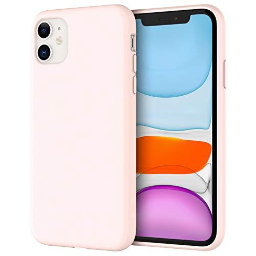 JETech Silicone Hülle für iPhone 11 (2019) 6,1-Zoll, seidigem Ganzkörper-Schutzhülle Hülle Cover, mit weichem Mikrofaser-Innenfutter stoßfestes Abdeckung (Rosa)