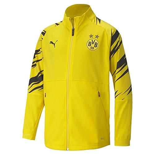 PUMA BVB Stadium Jacket Jr Trainingsjacke, Cyber Yellow Black-Home, 176