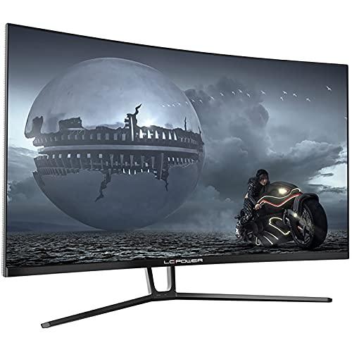 LC-POWER LC-M32-QHD-144-C-V2 32 Zoll (80,01 cm) Gaming Curved Monitor (QHD, 99% sRGB, 4 ms, FreeSync, 144 Hz, 2560x1080, VA, 1500R), schwarz