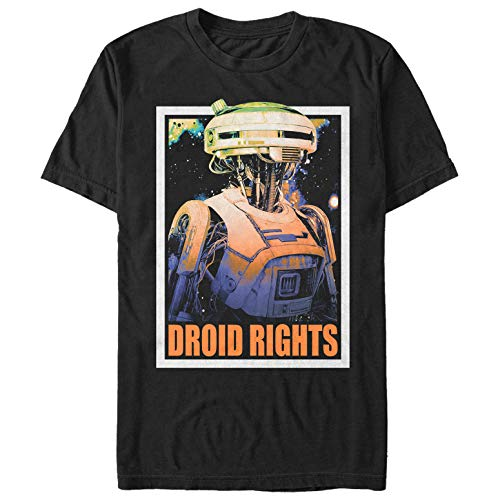 Solo: A Star Wars Story Men's L3-37 Droid Rights Black T-Shirt