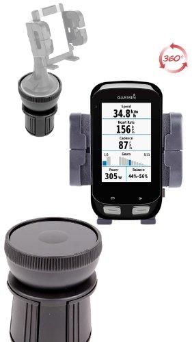 DURAGADGET Support Fixation Porte-gobelet Voiture Base Ajustable - pour GPS Tomtom GO 6000, Garmin Edge 1000, Edge 810, Edge 510