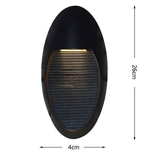 Stijlvolle eenvoud waterdichte aluminium wandlamp, antraciet-ovale wandlamp voor binnen en buiten, Creative Metal voetinbouwlamp, JTD