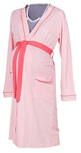 Happy Mama Umstands Stillnachthemd und Morgenmantel. Separat erhältlich. 393p (Morgenmantel - Powder Pink, 38-40, M)