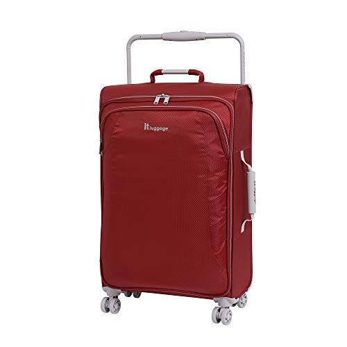 it luggage World'S Lightest New York 8 Wheel Super Lightweight Suitcase Medium Maleta, 70 cm, 56 Liters, Rojo (Bossa Nova)