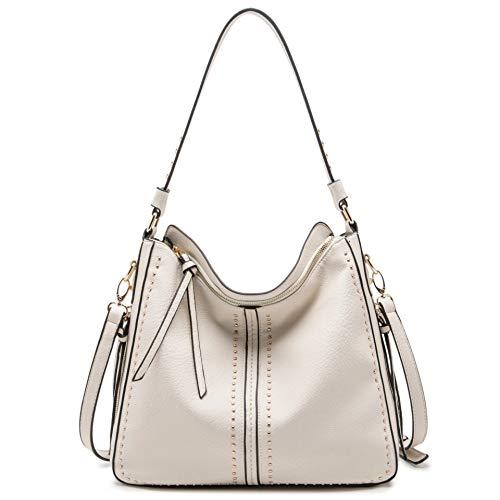 Montana West Large Leather Hobo Handbag for Women Concealed Carry Studded Shoulder Bag Crossbody Purse MWC-1001BG