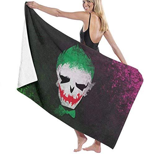 FSTGF Suicide Sq-uad Joker Toalla de Playa de Microfibra